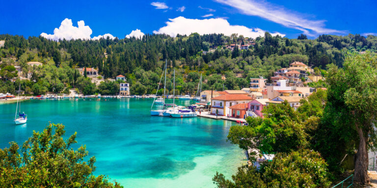 Picturesque,Fishing,Village,Lakka,In,Paxos,With,Turquoise,Sea,,Ionian